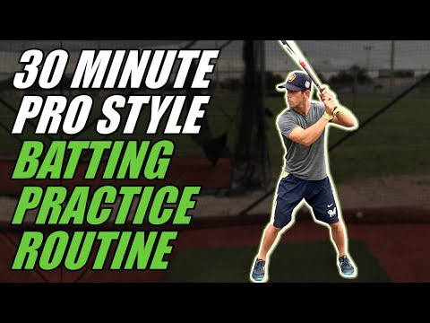 30 MINUTE PRO STYLE BATTING PRACTICE ROUTINE