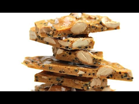 Salted Marcona Almond and Black Sesame Brittle With Coriander | HuffPost Life