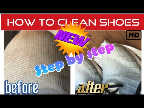 how to correctly clean dirty shoes