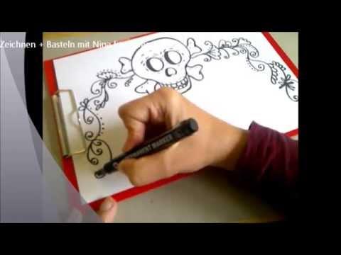 Halloween Einladungskarten Basteln, Zeichnen, Gestalten   YouTube