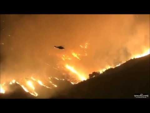 """La Tuna Brush Fire 9-1-17 10:30 pm """"Fire in Los Angeles"""""""