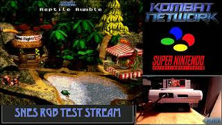 RGBShock is doing more SNES RGB Console Play - Donkey Kong Country