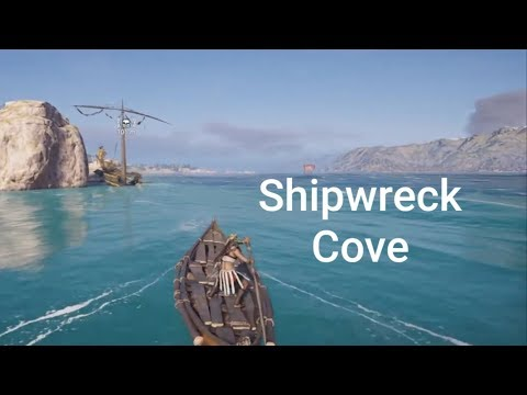 Assassin's Creed Odyssey : Shipwreck Cove # Loot treasure , machaon the feared clue location