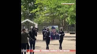 Avignon : fin de cérémonie en hommage à Éric Masson