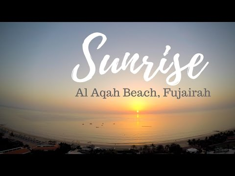 4K Sunrise and Sunset Timelapse - Al Aqah Beach, Fujairah