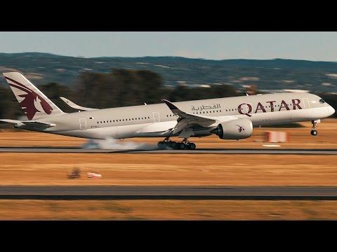 Qatar Airways Airbus A350-900XWB Landing Adelaide Airport - [A7-ALJ]