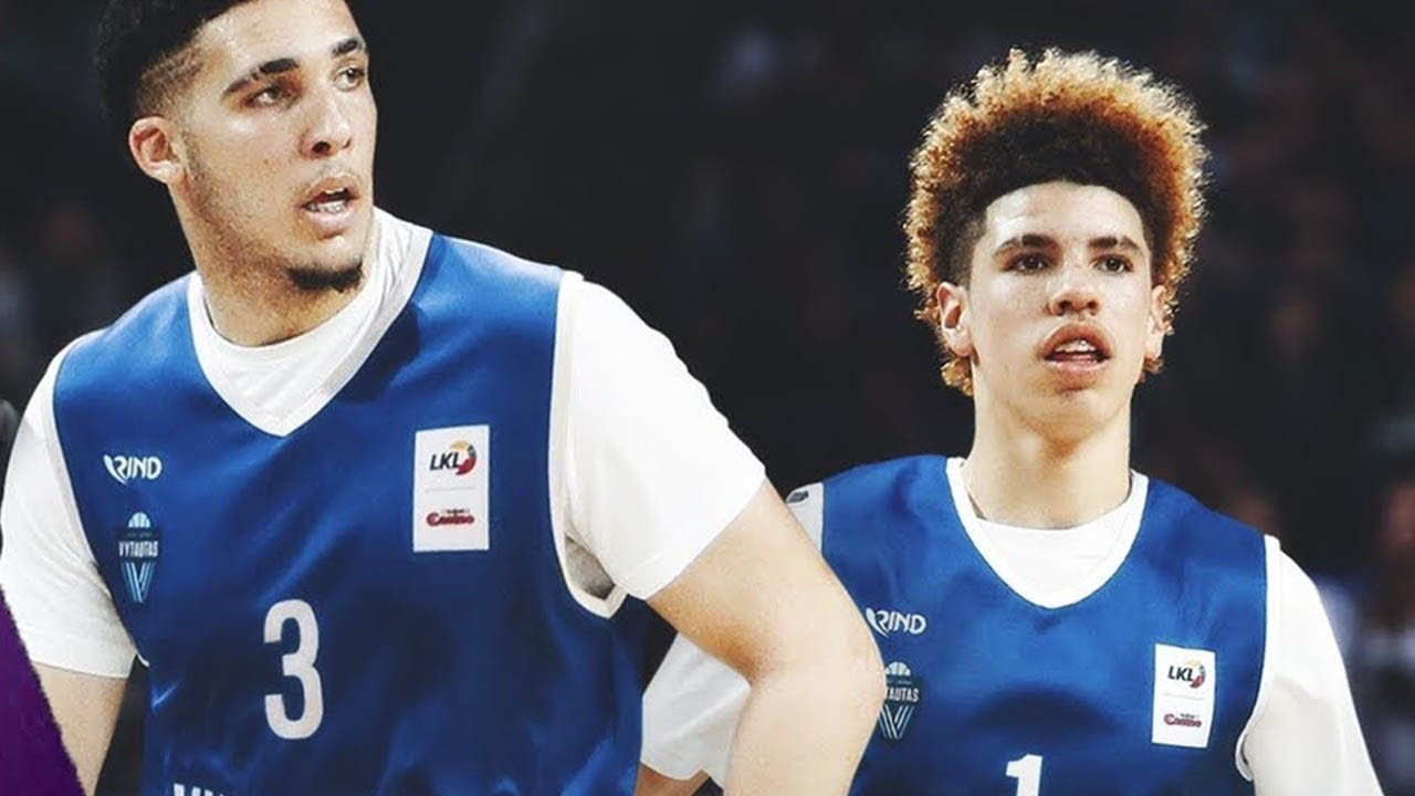 bcc5521a1a3 LaMelo & LiAngelo Ball Get NO Love from Lithuania Fans. The Fumble