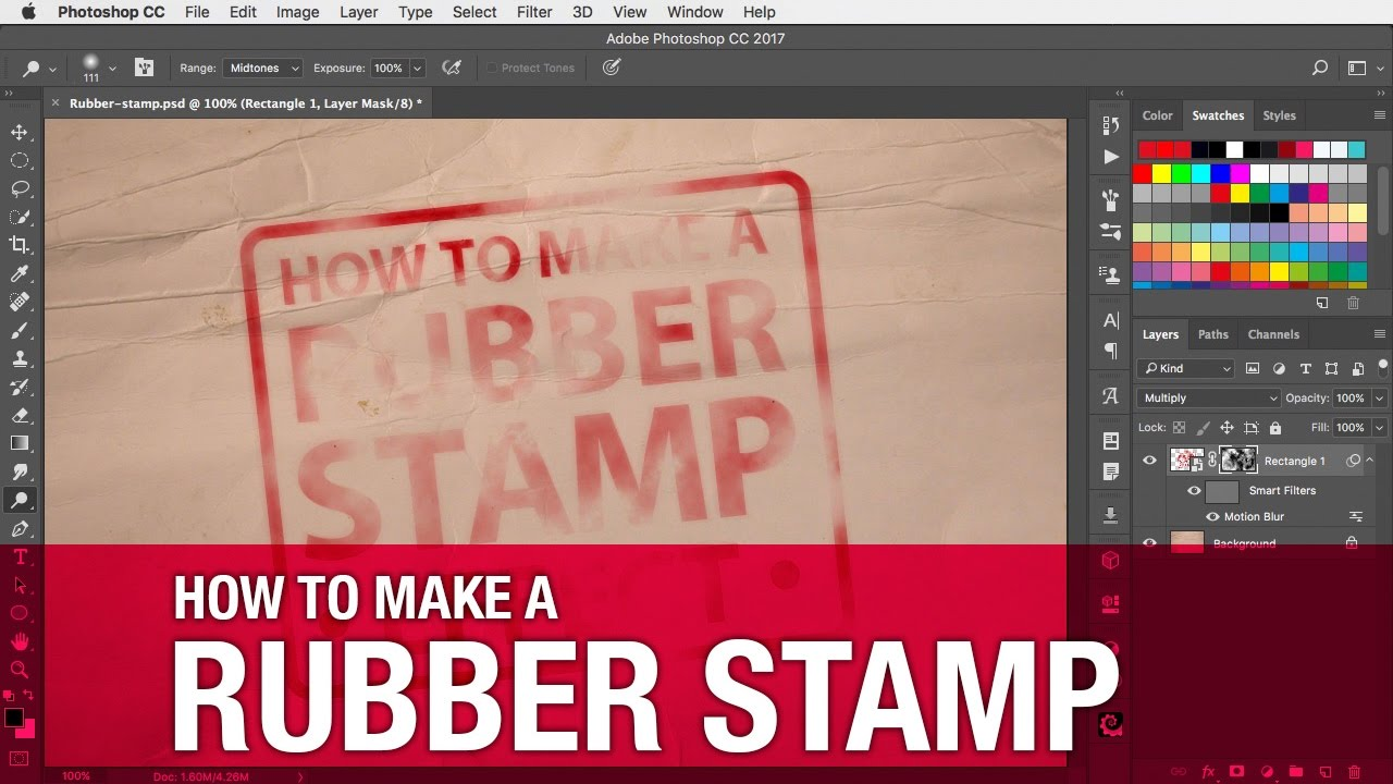 how to make a rubber stamp effect - youtube, Powerpoint templates