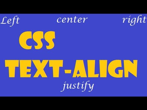 CSS How To: text-align - YouTube