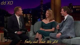 ايدي ريدمان و ذكريات الطفولة مع جيمس كوردن The Late Late Show With James Corden   مضحك جداً