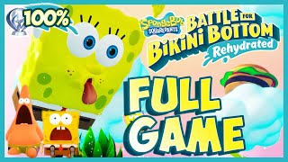SpongeBob Battle for Bikini Bottom Rehydrated FULL GAME 100% Longplay (PS4) [Platinum Walkthrough]