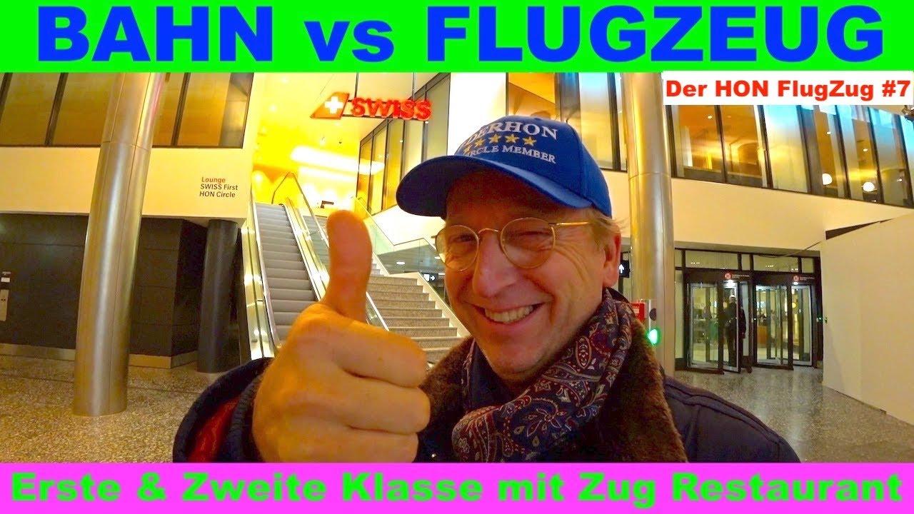 BAHN vs FLUGZEUG 🚅 Erste & Zweite Klasse mit Zug Restaurant 😷 Der HON FlugZug #7