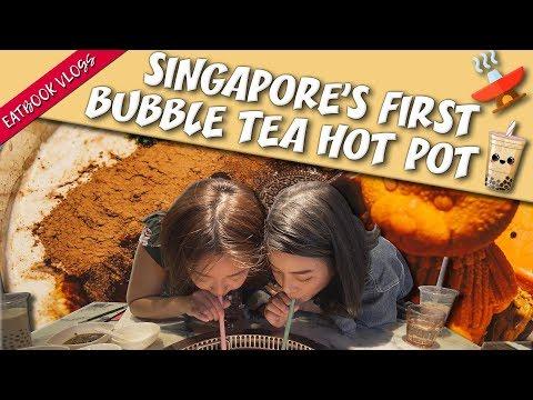 Bubble Tea Hot Pot In Singapore?! | Eatbook Vlogs | EP 89