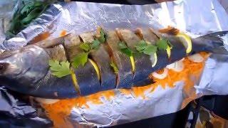 Вкусный и простой рецепт запечённой рыбы в духовке!!!