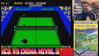 SLOBULUS vs TEAM CHINA - El duelo definitivo en Ping Pong (Spectrum) Máxima dificultad