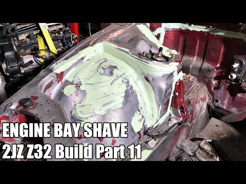 HOW TO SHAVE ENGINE BAY | 2JZ 300ZX Build Part 11