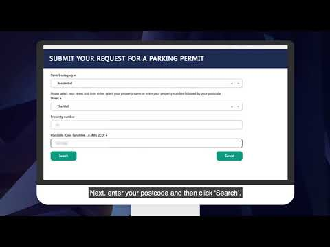 Applying for visitor parking permits