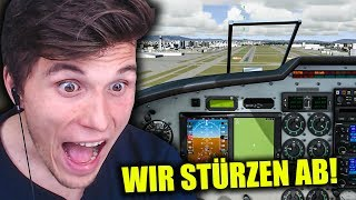 HILFE WIR STÜRZEN AB!  ✪ FLUGSIMULATOR 2017 - FLIGHT SIM WORLD