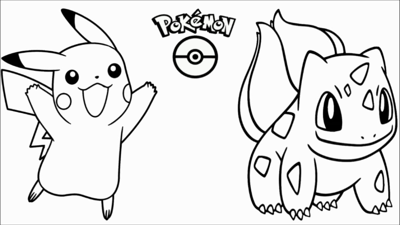 Pokemon Coloring I Learn Colors I Coloring Pages Youtube