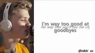 Bars and Melody - Too good at goodbyes (cover) LYRICS