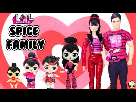 SPICE FAMILY DIY Custom  Fun Craft With Barbie and Ken LOL Families Cupcake Kids Club