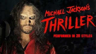 Repeat youtube video Michael Jackson - Thriller | Ten Second Songs 20 Style Halloween Cover