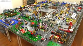 LEGO city walkthrough Summer 2015! A 245 sq. ft. layout! thumbnail