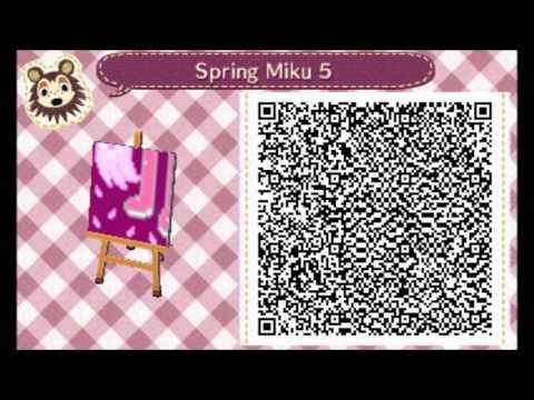 Acnl Spring Miku And Winter Miku Qr Code Town Pics Youtube