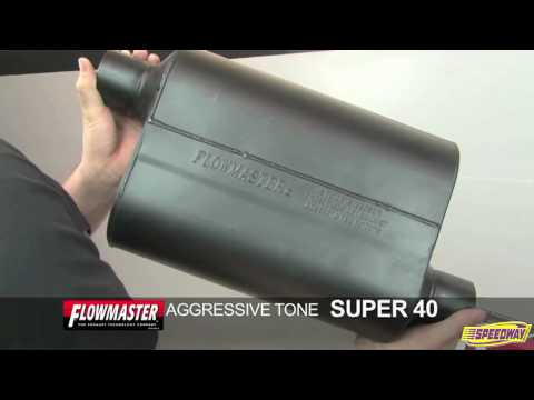 Exhaust Muffler-Super 40 TM Delta Flow Muffler Flowmaster 952547