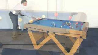 "Www.madfun.co.uk - 6ft ""w"" Leg Folding Pool And Snooker Table Bce Fspw-6"