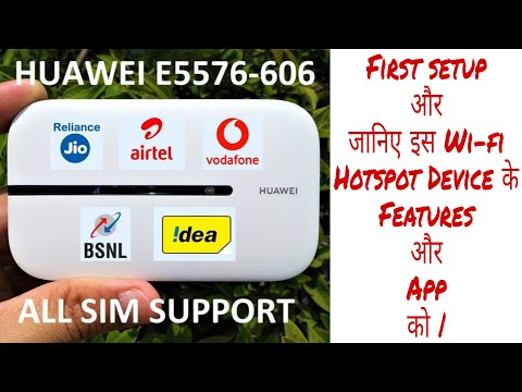 All Sim Support 4g Hotspot Device Huawei E5576 606 First Setup App Features Explained Hindi Youtube