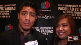 Heather Dumlao gets the low down on Jessie Vargas thoughts of fight Manny Pacquiao