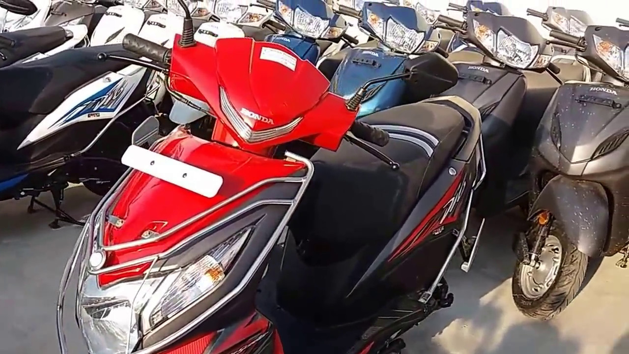 Honda dio new colours yellow orange red grey blue