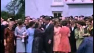 June 27, 1963 - John F. Kennedy visiting his cousin Mary Ryan in Dunganstown (Color)