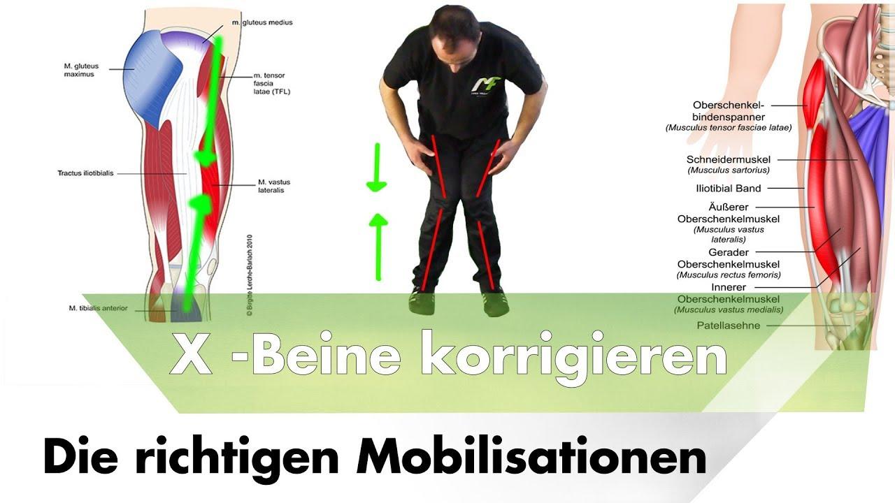 Übungen gegen X- Beine | Die richtigen Mobilisationen #