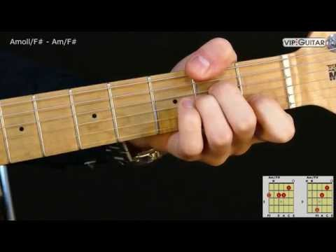 Gitarrenakkorde: A-Moll/F# - Am/F# chord - YouTube