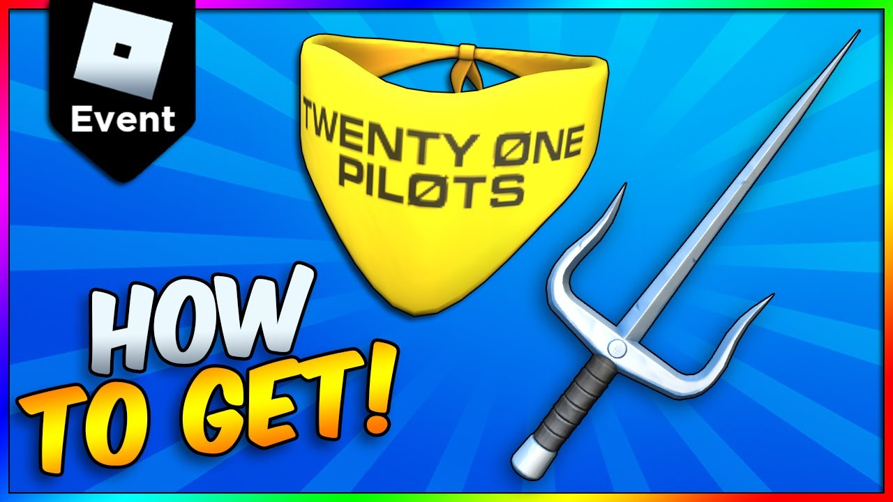 [EVENT  How to get Bandana & Icy Sai Sword in the Roblox Twenty One Pilots Event   Sonaria