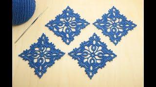 АЖУРНЫЙ КВАДРАТНЫЙ МОТИВ вязание крючком мастер-класс How to Crochet for Beginners