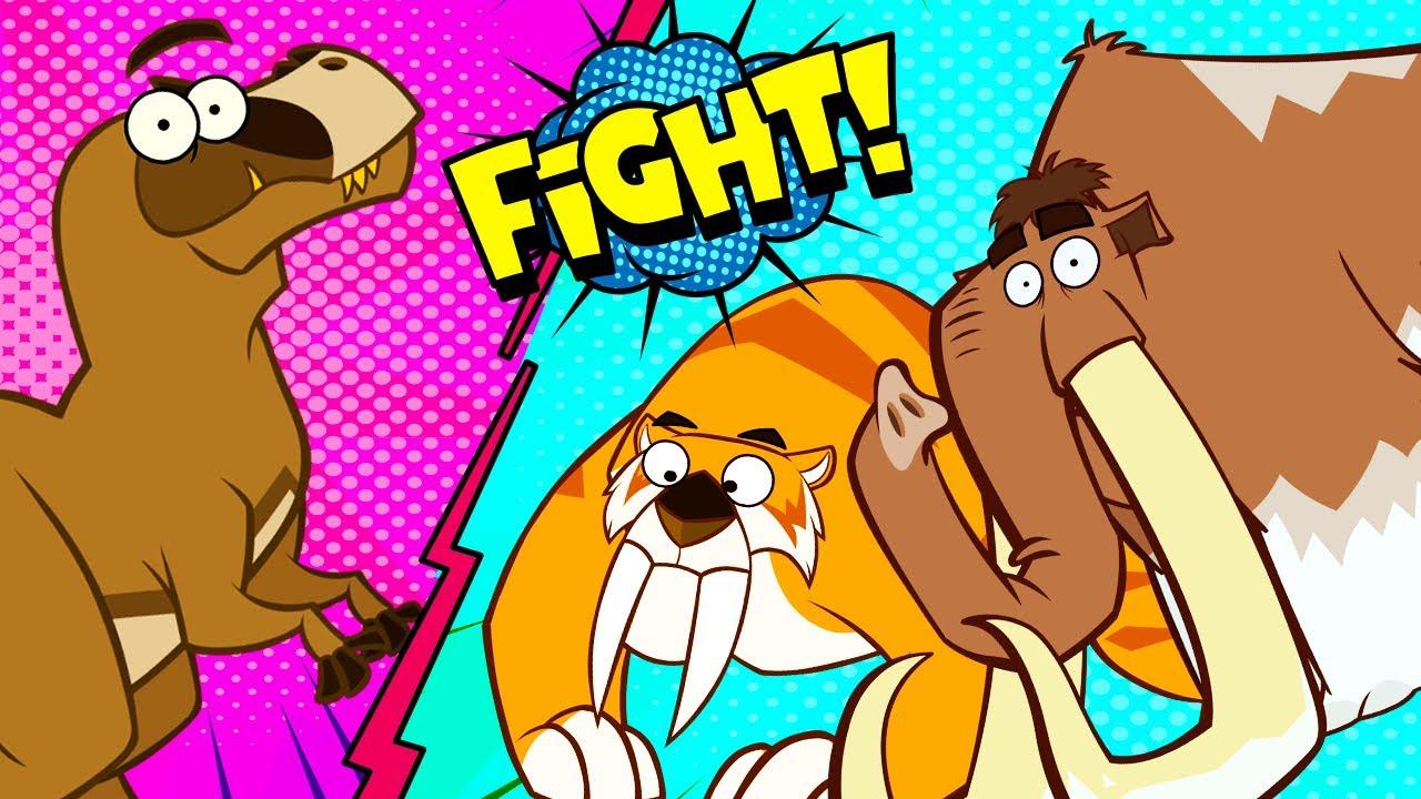 Ice Age VS Jurassic Park | Funny Dinosaur Cartoon for Kids | Shows For Kids | I'm A Dinosaur!!