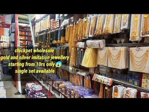 Chickpet Wholesale Gold And Silver Imitation Jewellery  Starting From 10rs Only  Jewelry Collection
