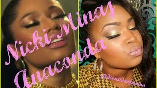 "Nicki Minaj ""Anaconda"" Makeup Tutorial (((FULL FACE TUTORIAL ))) Thumbnail"