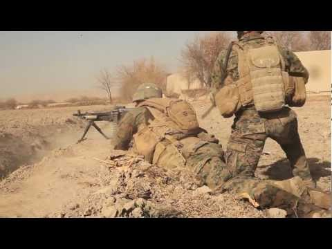 Marines Fight To Secure Sangin In Afghanistan