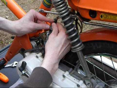 Honda express moped carburetor oil air cleaner cleaning scooter.