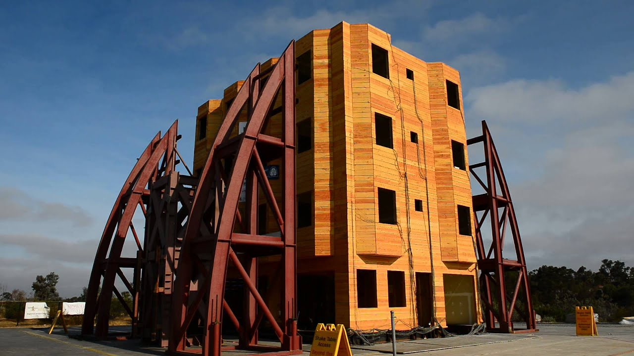 nees soft test 4 full scale four story woodframe building clt retrofit - Wood Frame Building