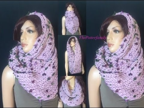 How to Crochet Camel Stitch / Knit-Like Circle Infinity Scarf ...