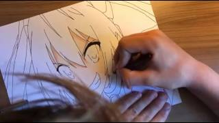 Drawing Red-Tail from gonna be twintail