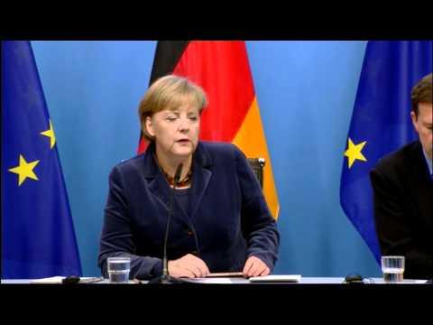 Euro Summit: Angela Merkel press conference (German)