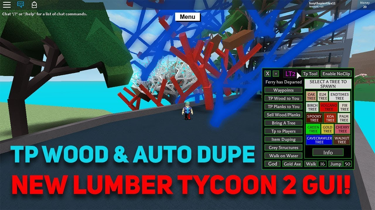 New Lumber Tycoon 2 Gui W Free Full Lua Executor Unlimited