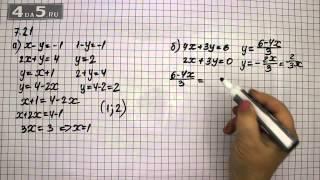 Упражнение 7.21. Алгебра 7 класс Мордкович А.Г