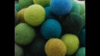 видеоурок по валянию шариков